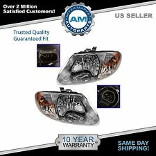 Headlights Headlamps Left & Right Pair Set for Dodge Grand Caravan Voyager