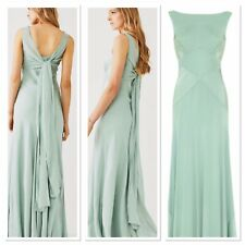 Ghost London Taylor Dress In Dusty Green (bridesmaid / Evening Dress) Size 6