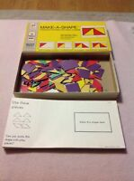 Vintage 1971 Milton Bradley Make A Shape Parquetry Design Cardboard Learning