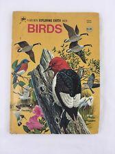 A Golden Exploring Earth Book Birds Vintage 1973 Hardcover Deluxe Edition
