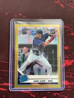 2019 Donruss Optic Jake Cave Rated Rookie Gold Prizm 4/10 Twins