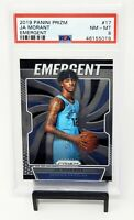 2019 Prizm RC Grizzlies Star JA MORANT Rookie Basketball Card PSA 8 NM-MINT