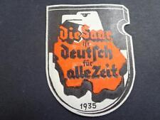 Germany Nazi 3rd Reich Nazi Poster Stamp-Vignette-Cinderella SAAR