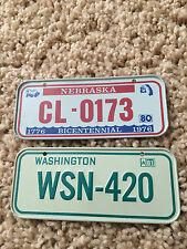(2) HoneyComb Cereal Mini Bicycle Plates Nebraska 1980 Washington 1981