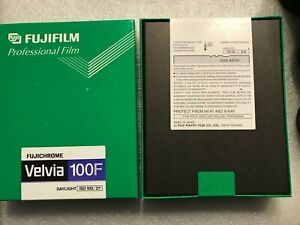 Fuji Professional Velvia 100 4x5 inch Slide-Film 50-Sheet sealed-package 01/2005