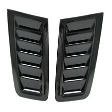 Universal For Ford Focus RS ST MK2 Style Bonnet Air Vents Hood Trim Gloss Black