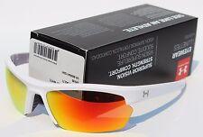 UNDER ARMOUR Stride XL Sunglasses Shiny White/Orange Multi NEW Sport/Cycle $100