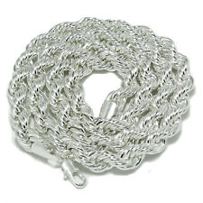 """Rope Chain Mens Black Hematite Silver 10mm Wide Chain 30"""" Inch Dookie Necklace"""