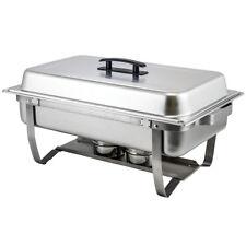 Winco C-4080 Full Size Rectangular 8 Quart Folding Stand Chafer Dish