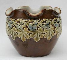 Antique Royal Dolton Pottery Vase Bowl Vine Pattern No.2930 by Nelly Barbett