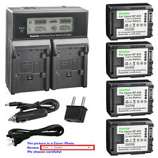 Kastar Battery Dual Fast Charger for Canon BP-808 & Canon VIXIA HF10 Camcorder