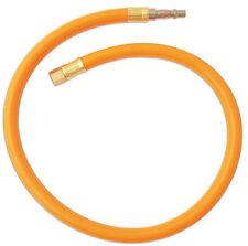 "Bright Orange Air Line Leader Hose Whip 600mm x 10mm 1/4"" BSP"