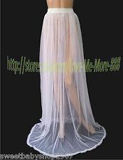 Beach Clubwear Dancer Party Mesh Maxi Long Full Length Skirts DRESS Fit  XL/XXL