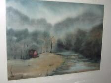 BEAUTIFUL WATER COLOR PAINTING SMOKEY MOUNTAINS 1980s CAROLYN CHAPMAN ARTIST