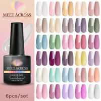 6Colors MEET ACROSS 8ml UV Gel Nail Polish Soak Off Gel Varnish Yellow Green DIY