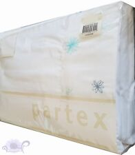 Jemma Blue King Single Bed Sheet by Partex | 225TC | Embroidered Floral Detail