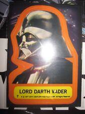 STAR WARS VINTAGE CARD TOPPS STICKERS LORD DARTH VADER N°7 1977 SERIE 1 USED