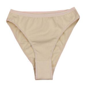 Nude Girls Underpants Underwears High Leg Cut Briefs Ballet Dancewear Gym 8-10Y