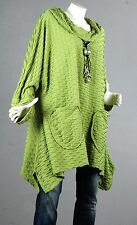 60 Kaschierwunder Pullover Tunika Longpullover Top Bluse Shirt Wolle 54 56 2XL 2