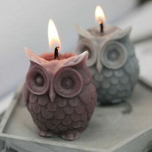 3D DIY Silicone Owl Bird Candle Molds Soap Mold Craft Wax Resin Mould Hobby US