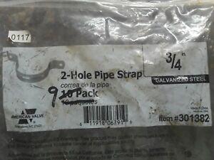 "9 ~ 301382 American Valve 3/4"" Galvanized Steel Pipe Straps"