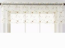 JCP Spring Blossom Embroidered Valance Yellow Floral 50in x 15in Sheer Swag