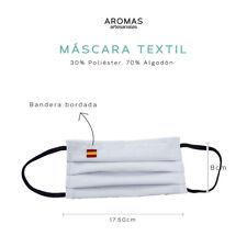 Mascara bandera de España bordada con goma, PACK 3 Uds. Varios colores.