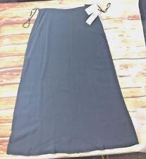Jones New York MSRP $130 slate grey gray women's skirt long 100% silk career