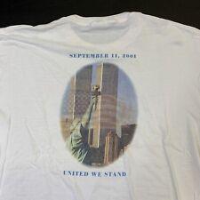 Vintage September 11 Shirt New York Souvenir USA America Patriotic XL NYPD