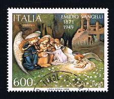 ITALIA 1 FRANCOBOLLO NATALE LA VITA NUOVA 1990 usato