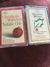 Christmas Cassettes Diana Ross And Natalie Cole Lot Of 2