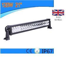 Puissant 120W 12V 24V led light bar spot véhicules hors route atv suv bateau camion