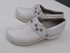Spring Step Florence Arch Support Leather Womens Shoes Clogs White Size 9M