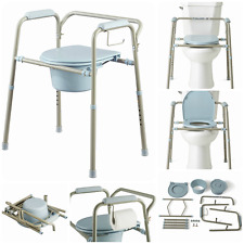 Adult Commode Chair Toilet Support Seat Portable Bedside Bathroom Potty Bucket