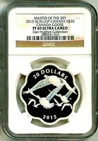 2015 S$20 Masters Of The Sky Canada Goose Scallop NGC PF69 UC With Box & COA OGP
