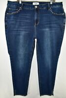 Angels Jeans Slim Skinny Stretch Womens Size 24W Blue Meas. 40x27.5