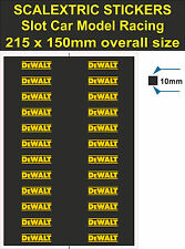Slot car Scalextric stickers Model Race DeWALT Logo Lego self adhesive vinyl T2