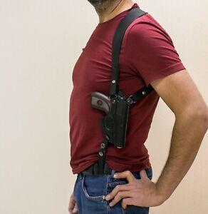 Shoulder holster for Makarov, vertical, genuine leather, black