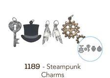 Elizabeth Crafts Designs Cutting Die Set  ~ STEAMPUNK CHARMS  Retro, Gears ~1189