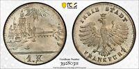 PCGS Frankfurt MS 67 1839 1 Kreuzer Silver Coin City View Flashy Unc MS Rare Gem