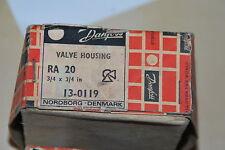 DANFOSS VALVE HOUSING RA 20 3/4 x 3/4 in 13-0119 VALVE PLUMBING BANKRUPTCY NEU