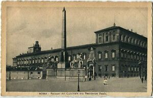 1923 Roma - Palazzo Quirinale ora Residenza Reale R Ferrovia - FP B/N VG ANIM