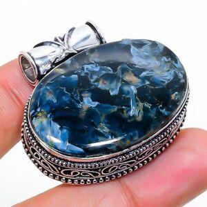 "Pietersite Gemstone Handmade 925 Sterling Silver Jewelry Pendant 1.18"" i322"
