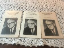 Vintage Set Of 3 Medical Pamphlets By Dr. G. Thosteson 1970's