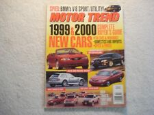 Motor Trend 1998 October Mustang Chrysler 300M Toyota Solara BMW M 4X4 Trucks
