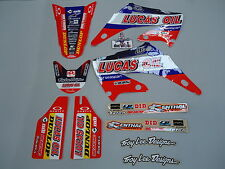 Honda CR125 CR250 2002-2007 Troy Lee Designs Team Lucas Oil graphics kit EJ2002