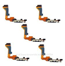 5x Charging Port Dock Connector with Flex Cable for Apple Iphone 4 Black GSM b85