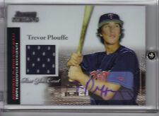 2004 Bowman Sterling Trevor Plouffe Auto Jersey RC #BS-TP Rookie Autograph