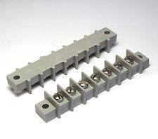 2x Klemmenleiste / Klemmleiste / 7-polige Klemme f. Röhrenverstärker, grau