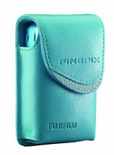 Fujifilm Turquoise Blue Compact Camera Case Faux Leather Belt Loop